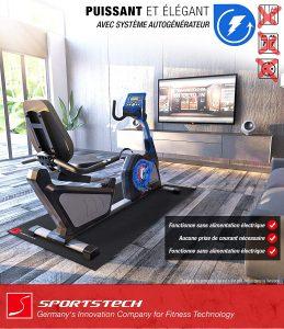 Vélo d'appartement pour sénior Sportstech ES600